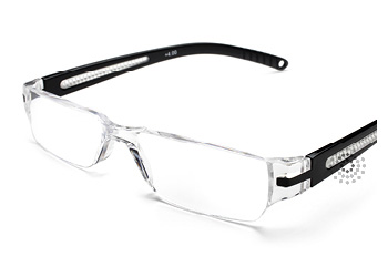 Octane Reading Glasses: Black