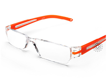 Octane Reading Glasses: Orange
