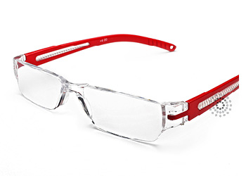 Octane Reading Glasses: Red