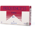Frequency 55 Toric Contact Lenses